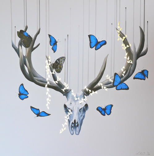 """Born to Die"" - Handfinished Gold Edition - Louise McNaught"