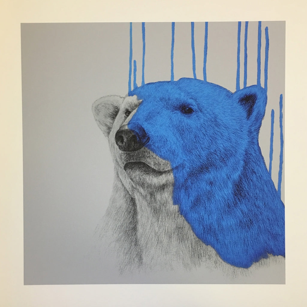 """Hey There Polar Bear - Blue"" Louise McNaught"