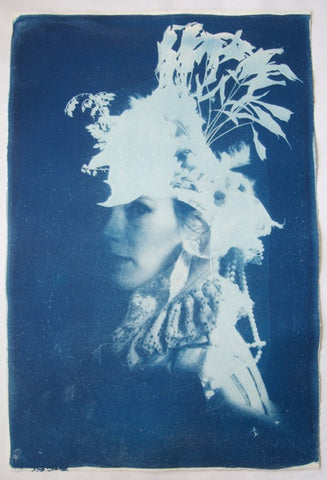 """Lou Lou"" Cyanotype By Rosie Emerson"