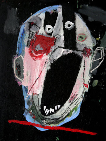 """Head 2."" Original painting on canvas By Carp Matthew"