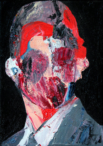 """Head 11"" (2nd series) Original Painting By Carp Matthew"