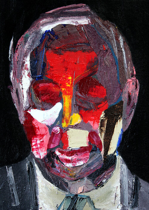 """Head 12"" (2nd series) Original Painting By Carp Matthew"