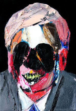 """Head 17"" (2nd series) Original Painting By Carp Matthew"
