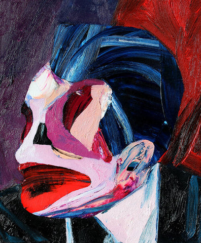 """Head 4"" Original Painting By Carp Matthew"