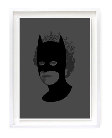 Rich Enough to be Batman - All Black Flock Limited Edition By Heath Kane