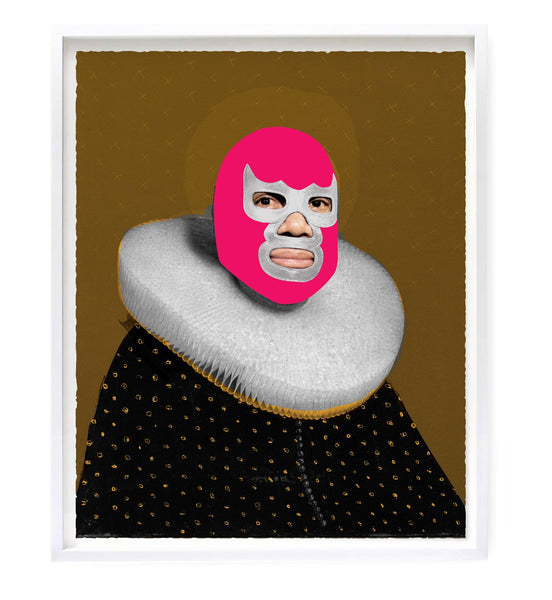 """Portrait of Heroes - Pink Devil"" Original Print By Heath Kane"