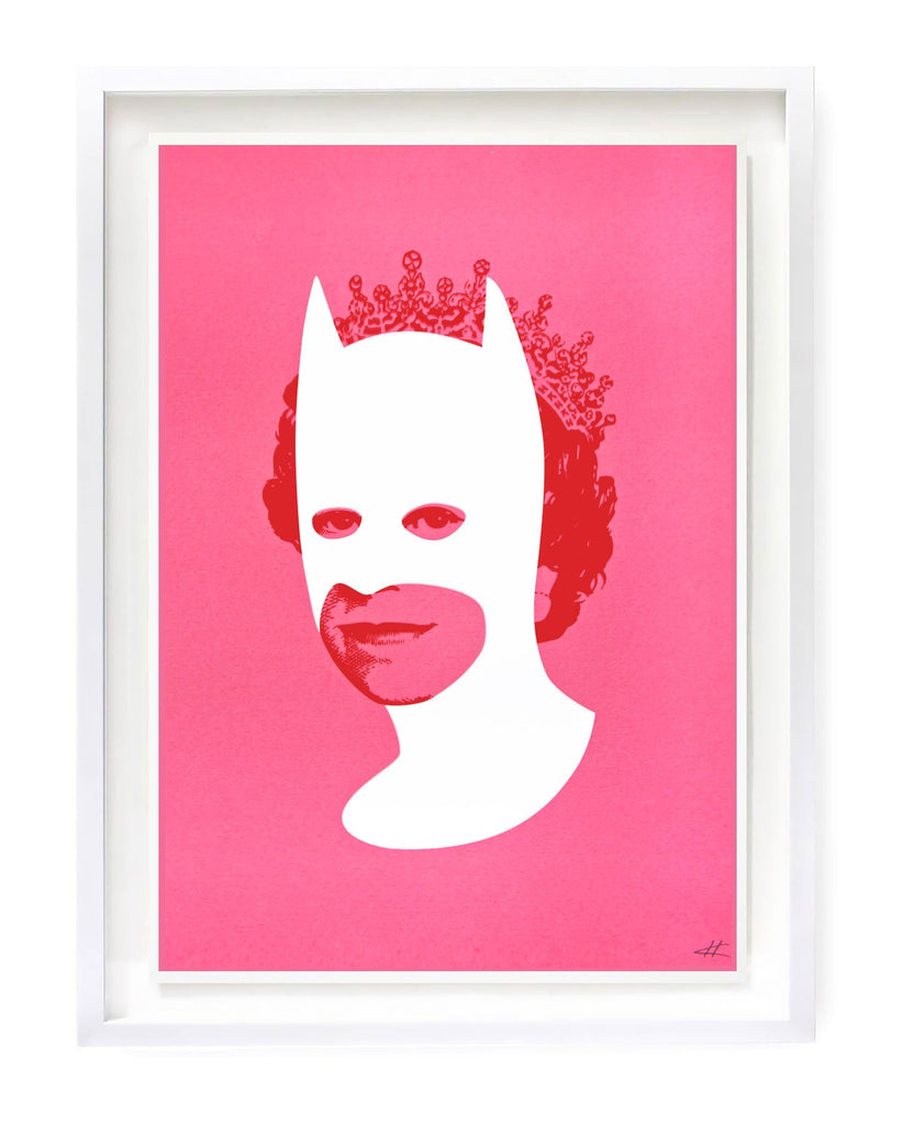 """Rich Enough To Be Batman - ""White & Pink"" Limited Edition Screen Print By Heath Kane"