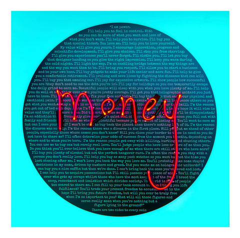 Limited Edition Print - Money Talks: Undersharing (white background) By Rebecca Mason