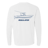 Comfort Colors Long Sleeve Boat Imprint Shirt - White