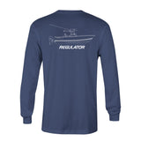 Comfort Colors LS Tshirt- Navy