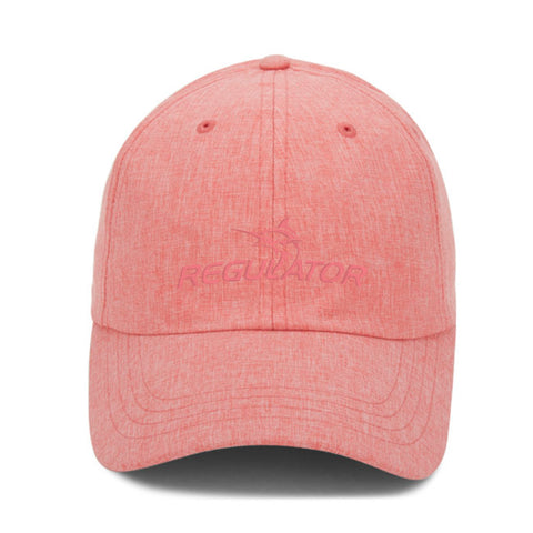 Chambray Linen Cap - Coral