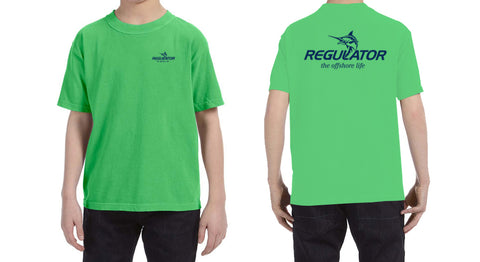Youth Comfort Colors SS Shirt- Neon Green