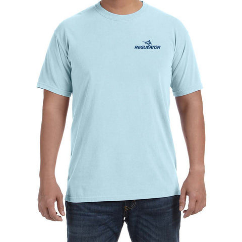 Comfort Colors S/S Tshirt- Chambray with Navy