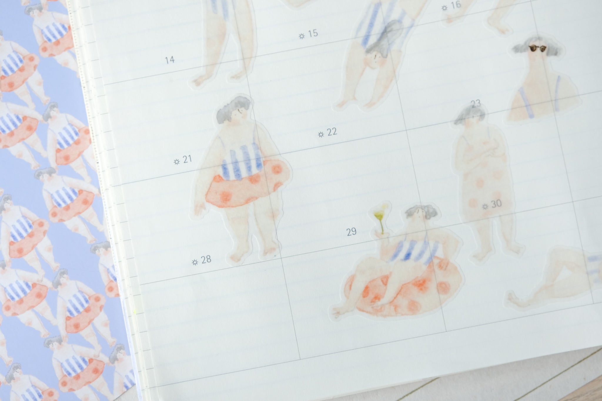 The Stripped Swimsuit - Sticker Sheet