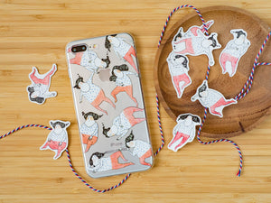 iPhone soft case-Rolling around | 透明軟殼-滾來滾去