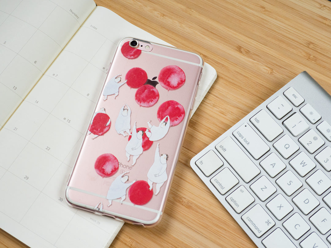 "iPhone case ""some red balloons"" - iPhone all models"