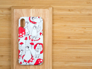 "iPhone case ""the red mushroom"" - iPhone all models"