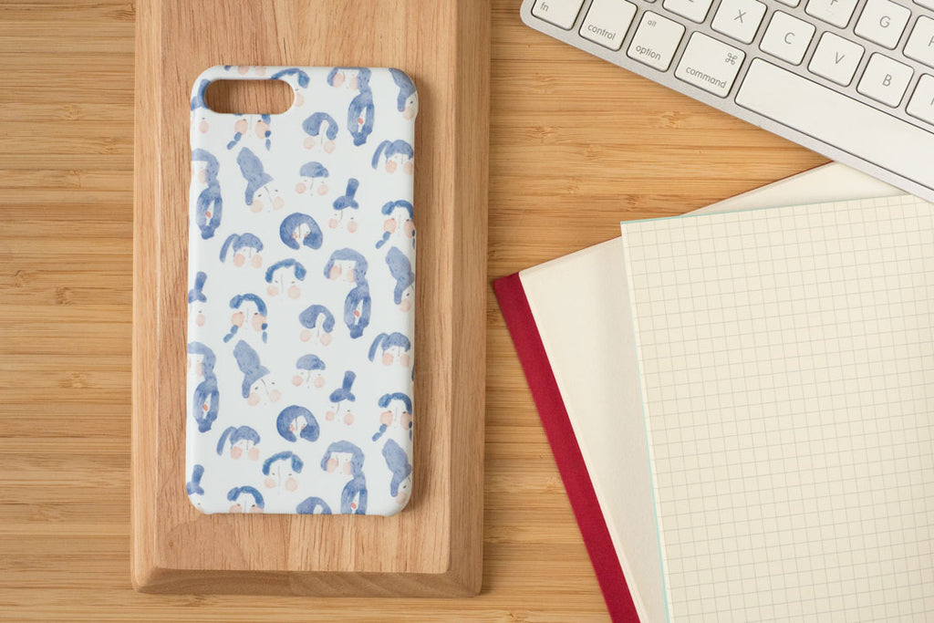 "iPhone case ""girls with blue hair"" - iPhone all models"