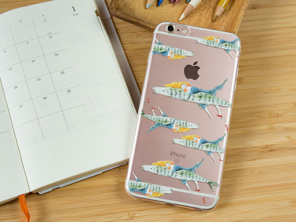 iPhone soft case-Flying Fish | 透明軟殼-魚兒