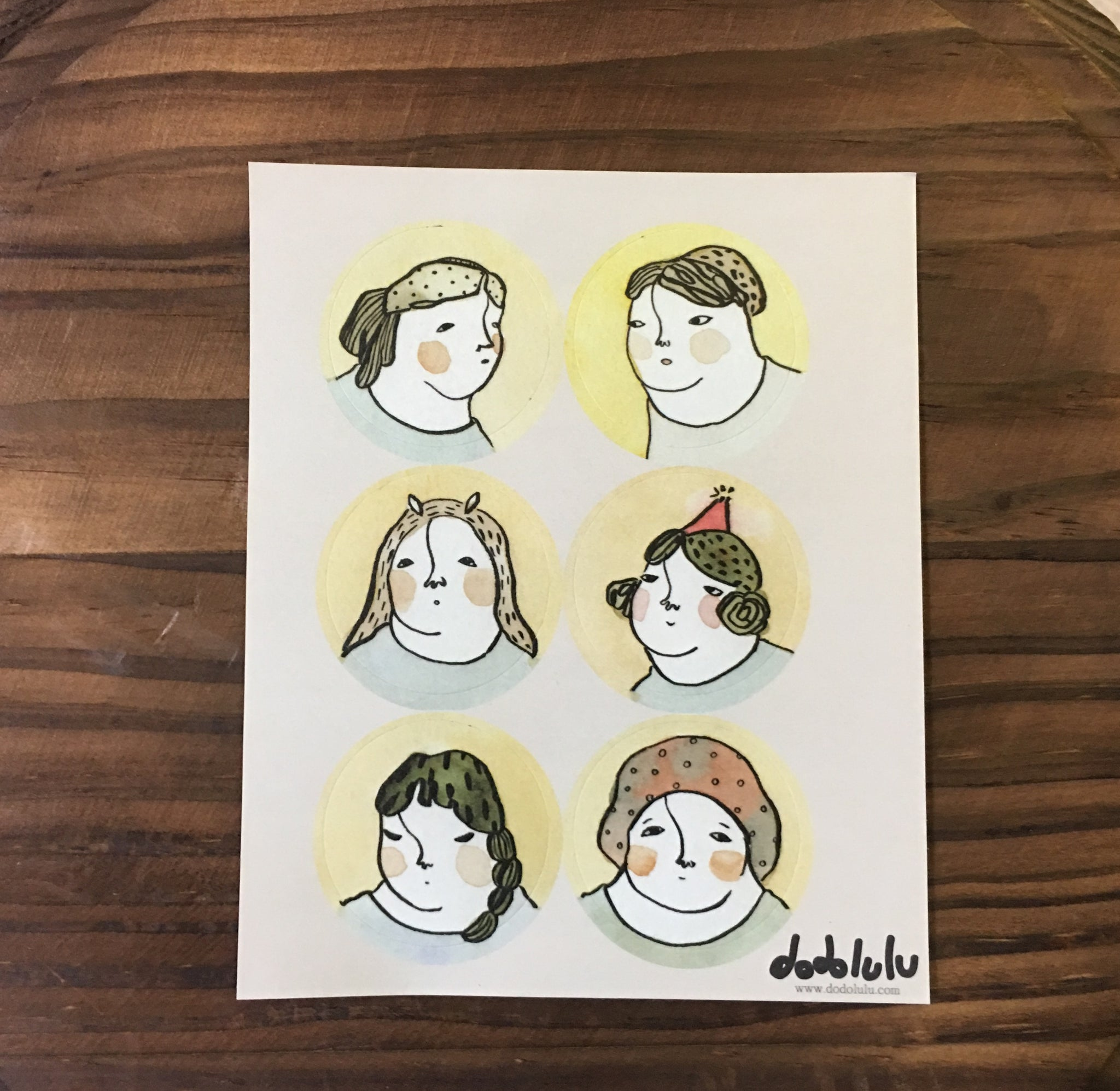 Faces and Girls - Sticker Sheet