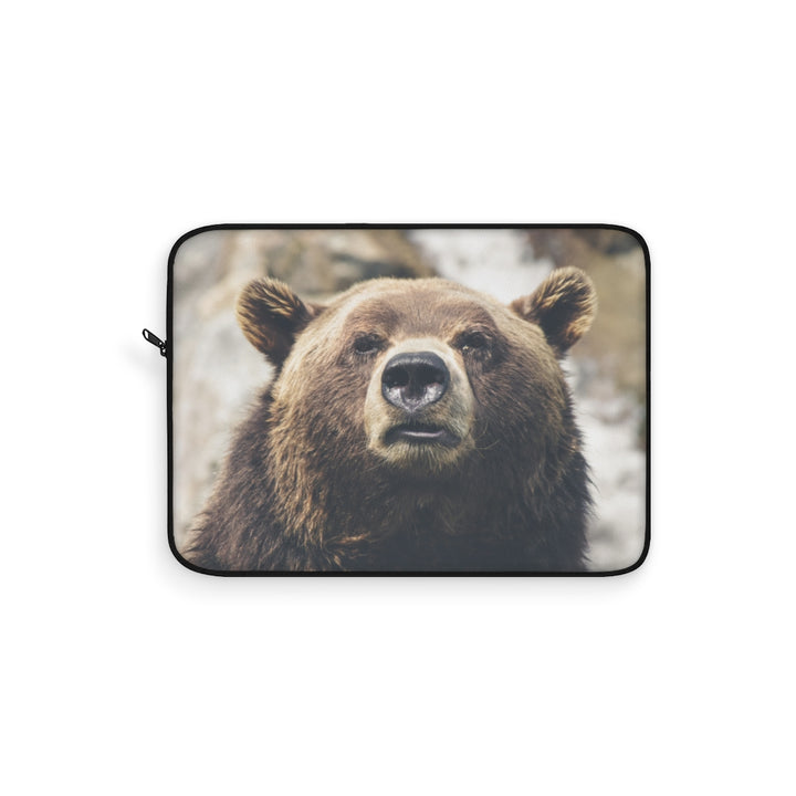 Brown Grizzly Bear Laptop Sleeve