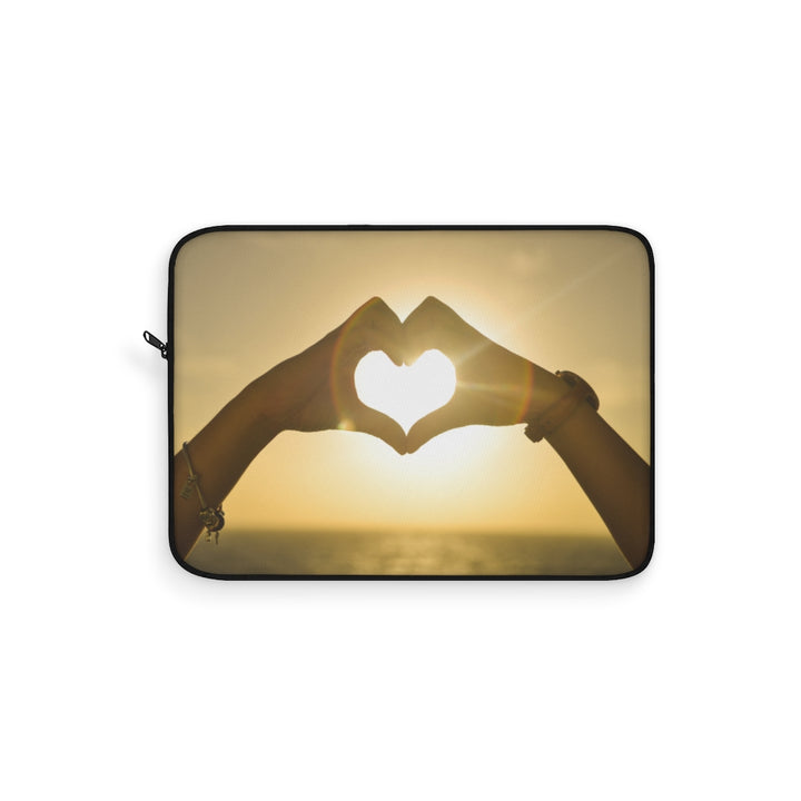 Sunset Love Heart Laptop Sleeve