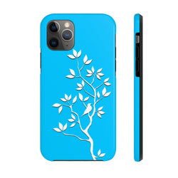 White Tree Blue Case Mate Tough Phone Case
