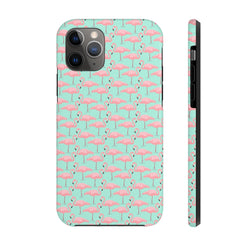 Neon Zoomed Flamingos Case Mate Tough Phone Case