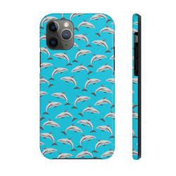 Neon Zoomed Dolphin Case Mate Tough Phone Case