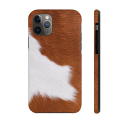 Cow Hide Brown Case Mate Tough Phone Case