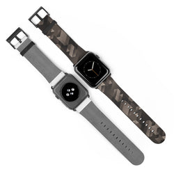 Dark Geometric Blocks Watch Band for Apple Watch