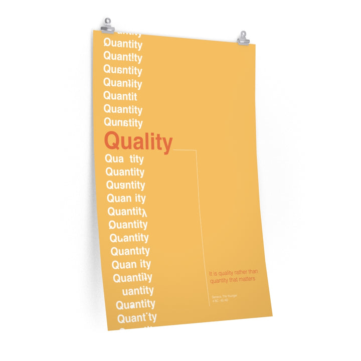Quality Not Quantity - Seneca The Younger Fine Art Print