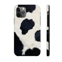 Cow Hide Black Case Mate Tough Phone Case