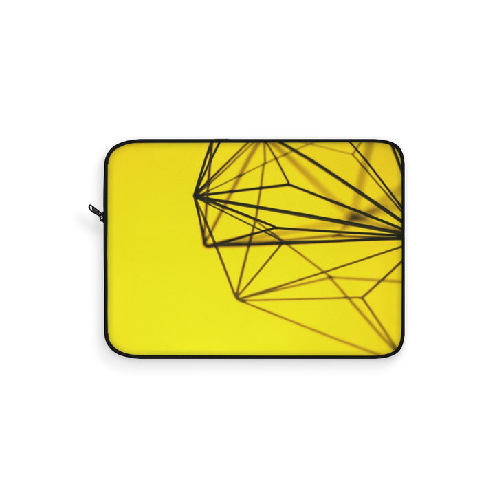 Yellow Metal Design Laptop Sleeve