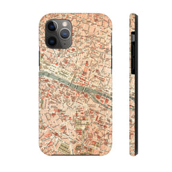 Maps Paris Case Mate Tough Phone Case