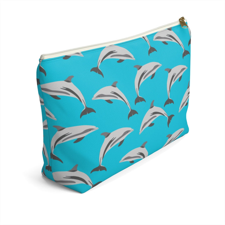 Blue Dolphins Accessory Pouch