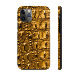 Golden Crocodile Case Mate Tough Phone Case