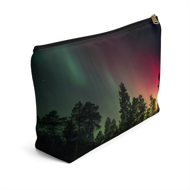 Winter Night Sky Aurora Accessory Pouch