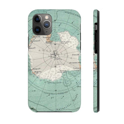 Maps South Pole Case Mate Tough Phone Case