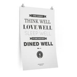 Dine Well - Virginia Woolf Fine Art Print