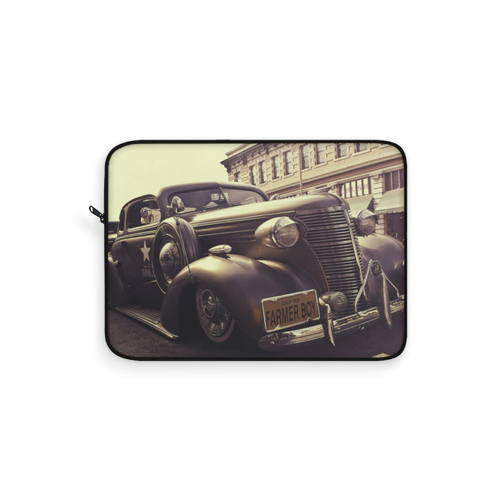 Vintage Farmer Boy Classic Car Laptop Sleeve