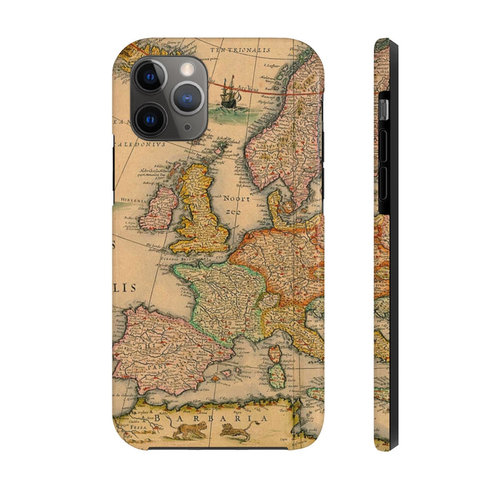 Maps Europe Case Mate Tough Phone Case