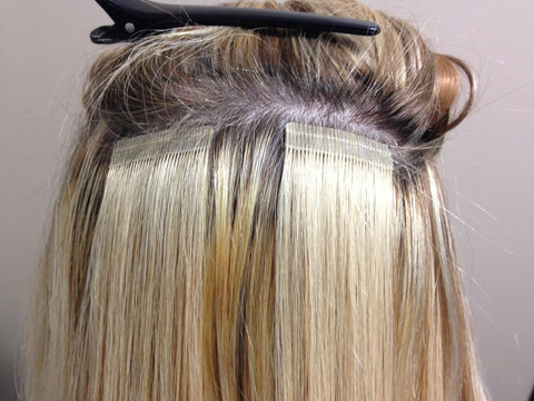 Clip in hair extensions or permanent extensions clipinhair oil is applied to your hair and combed through with a fine toothed comb to remove the tape ins more oil is applied to your pmusecretfo Choice Image