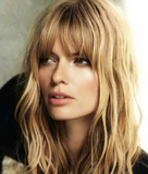 Beach Blonde Clipin Bangs
