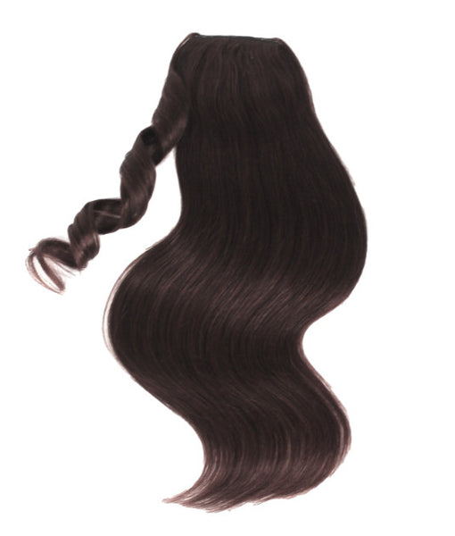 Dark Brown Clipin Ponytail