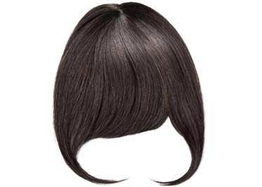 Dark Brown Clipin Bangs
