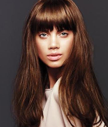 Chestnut Brown Clipin Bangs