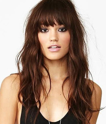 Chocolate Brown Clipin Bangs