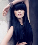 Jet Black Clipin Bangs