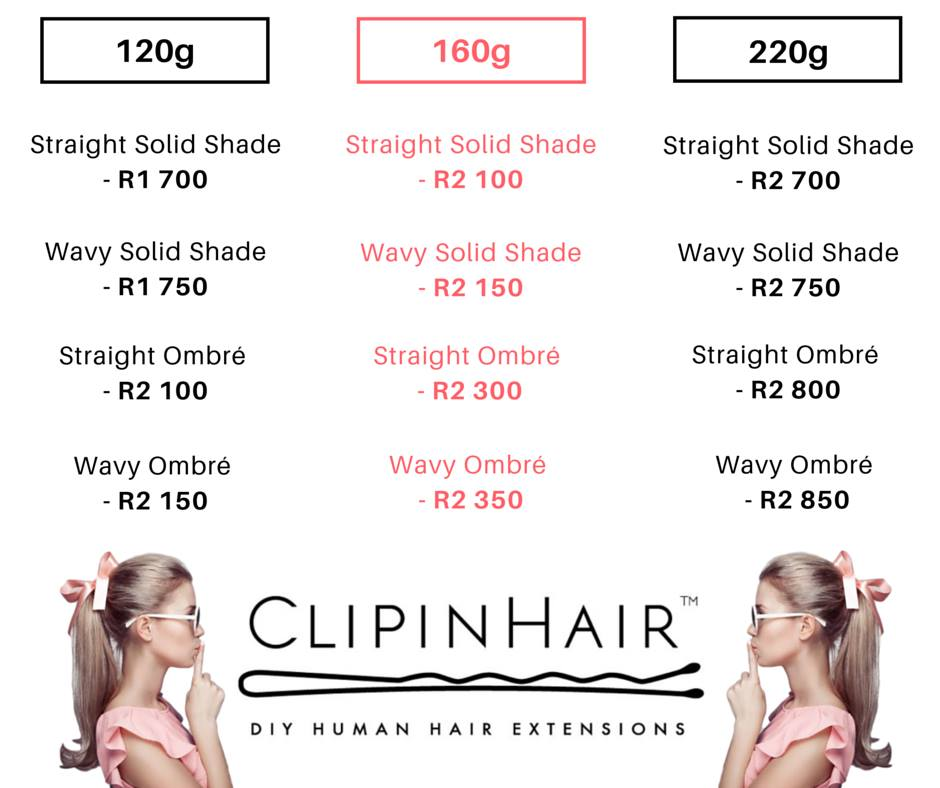 clip in hair length guide